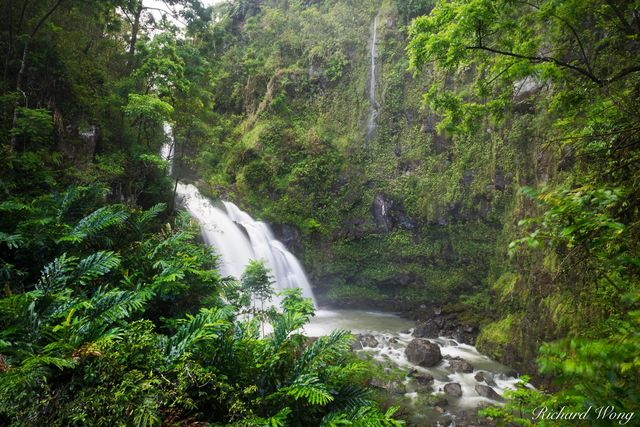 Upper Waikani Falls (Three Bears) / Road to Hana, Maui, Hawaii, photo