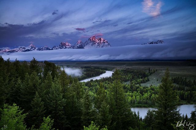 Ansel Adams Tetons and Snake River style photo, snake river overlook, grand teton national park, wyoming