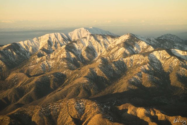 San Gabriel Mountains Aerial Photo