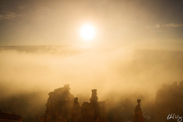 Foggy Sunrise, Bryce Canyon National Park, Utah Photo