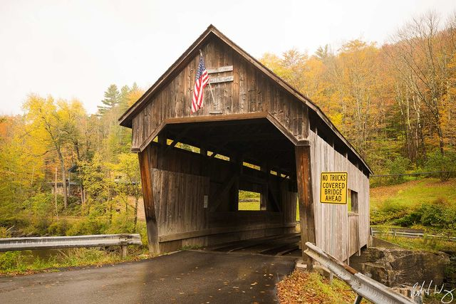 Warren Covered Bridge, Warren, Vermont, Photo