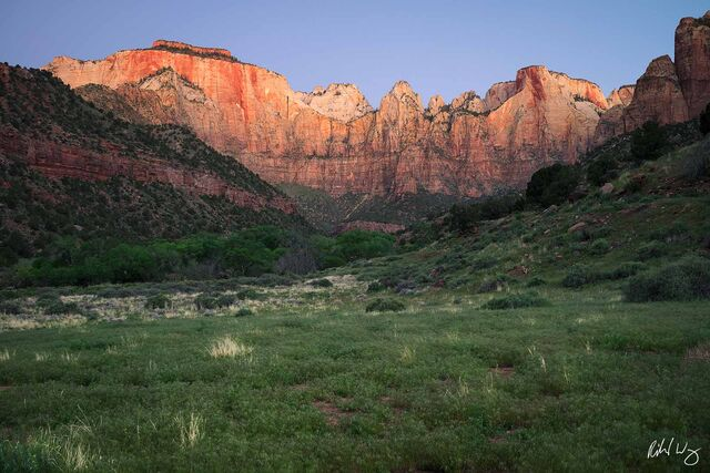 Towers of the Virgin at Sunrise, Zion Natoinal Park, Utah, photo