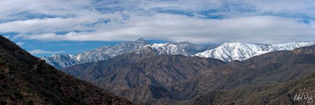 Snow-Capped San Gabriel Mountains, Angeles National Forest, California, photo