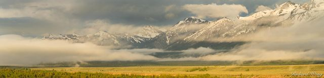 Teton Point Sunrise Panoramic, Grand Teton National Park, Wyoming, photo