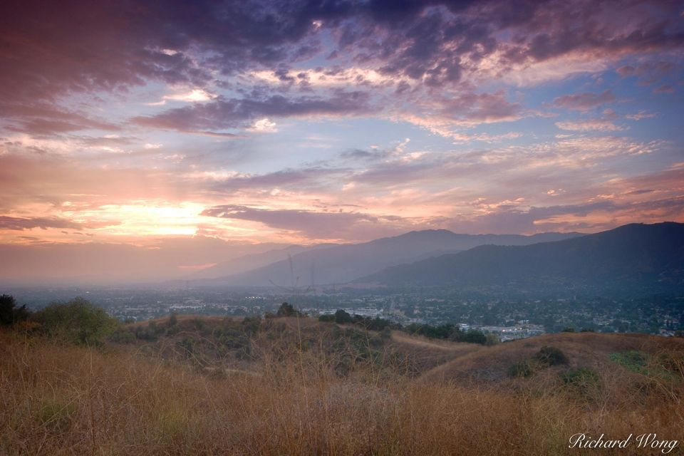 San Gabriel Valley Sunset print