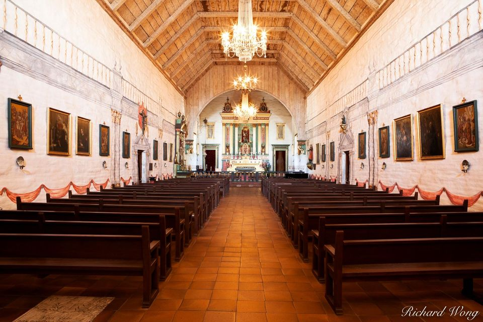 Mission San Jose Chapel print