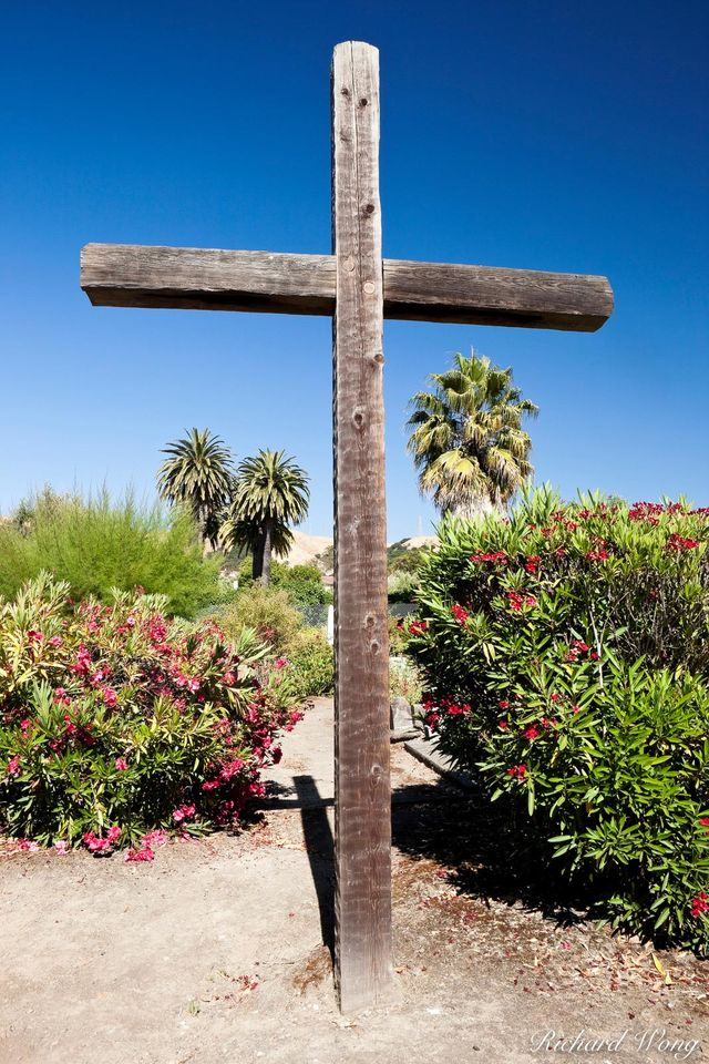 Cross in Cemetery print