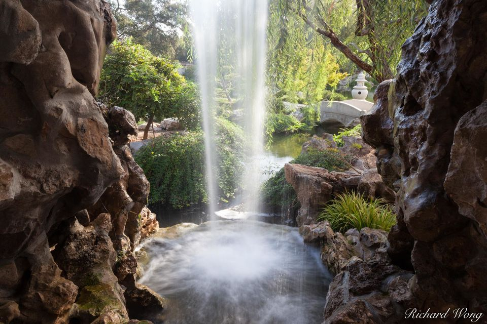 Chinese Garden Waterfall print