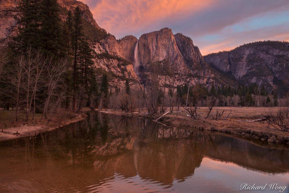 Yosemite Falls & Merced River print