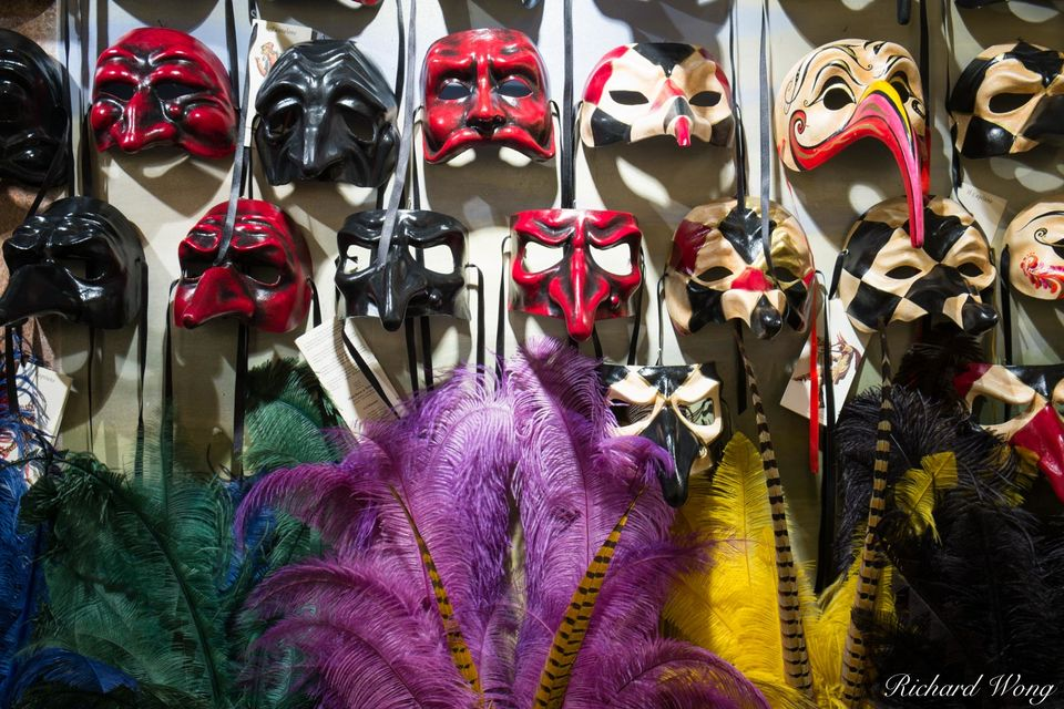 Venetian Masks print