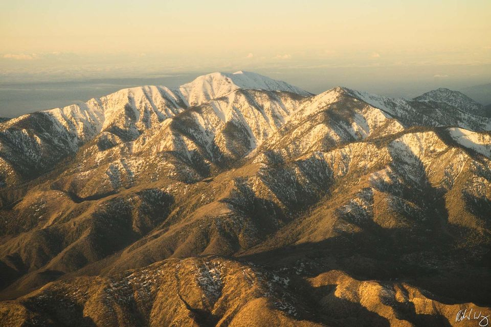 Aerial Over San Gabriel Mountains print