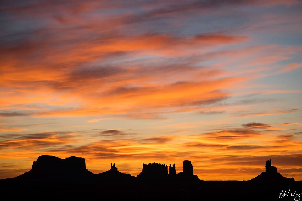 Monument Valley Silhouette print