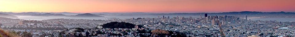 Twin Peaks Scenic Panoramic, San Francisco, California, photo