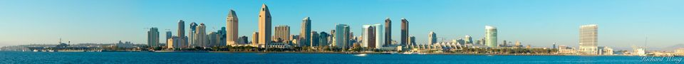 Downtown San Diego Skyline Scenic Panoramic, California, photo