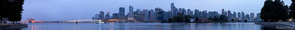 Vancouver Skyline from Stanley Park, British Columbia, Canada, photo