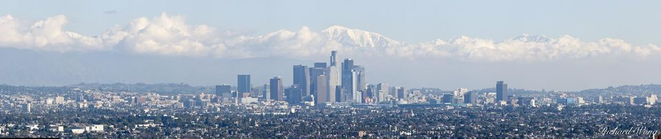 Los Angeles Panoramic Photo After Winter Storm, California, photo