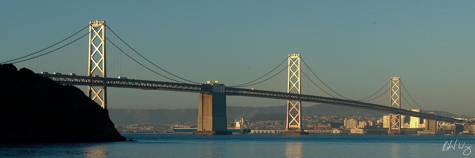 San Francisco-Oakland Bay Bridge Panoramic, Treasure Island, California, Photo
