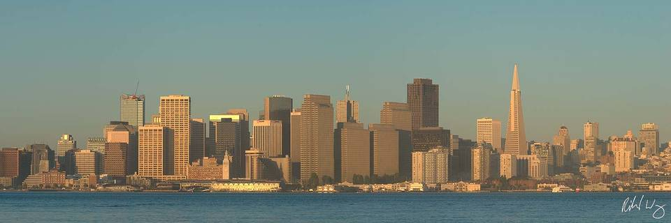 Downtown San Francisco Panoramic, Treasure Island, California, photo