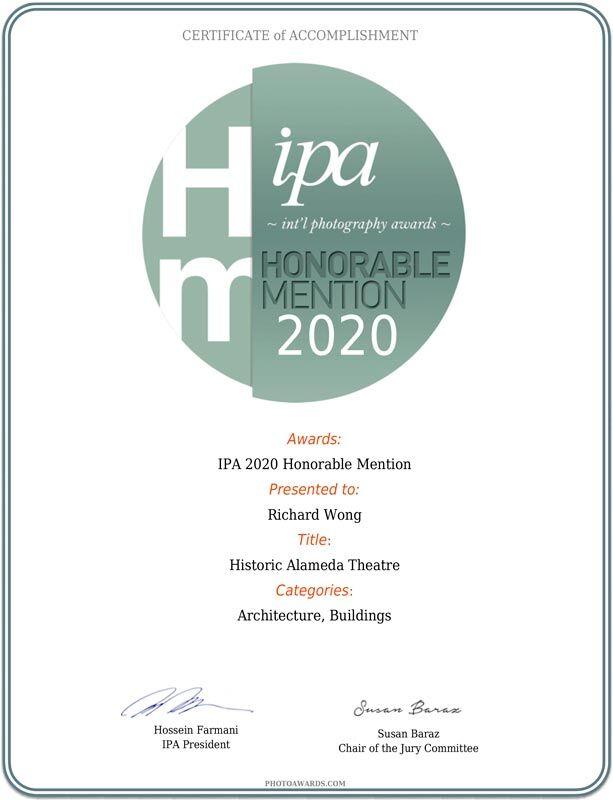 2020 IPA Awards / International Photography Awards - Historic Alameda Theatre - Richard Wong Photography