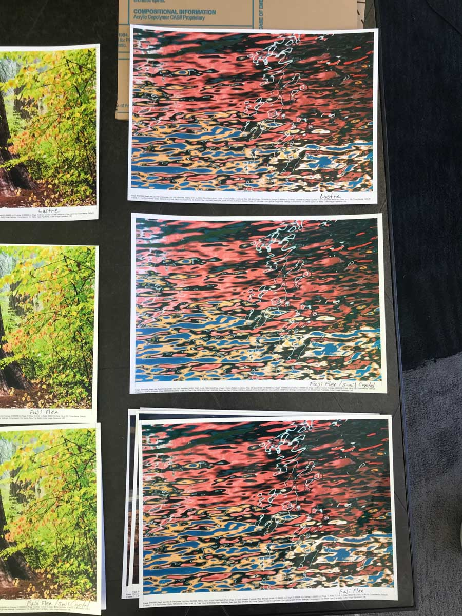 """Watercolors"" - Test Prints"
