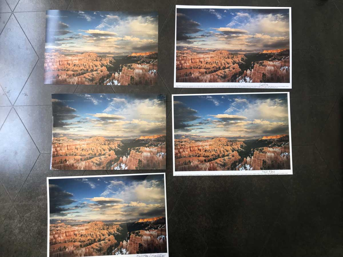 Bryce Canyon Sunset Point Test Prints