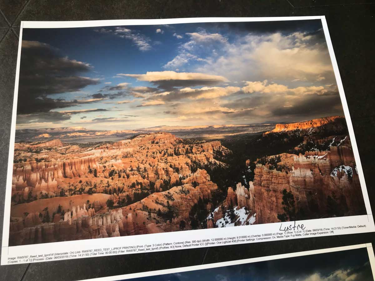 Fuji Crystal Archive Lustre print by Reed Art & Imaging