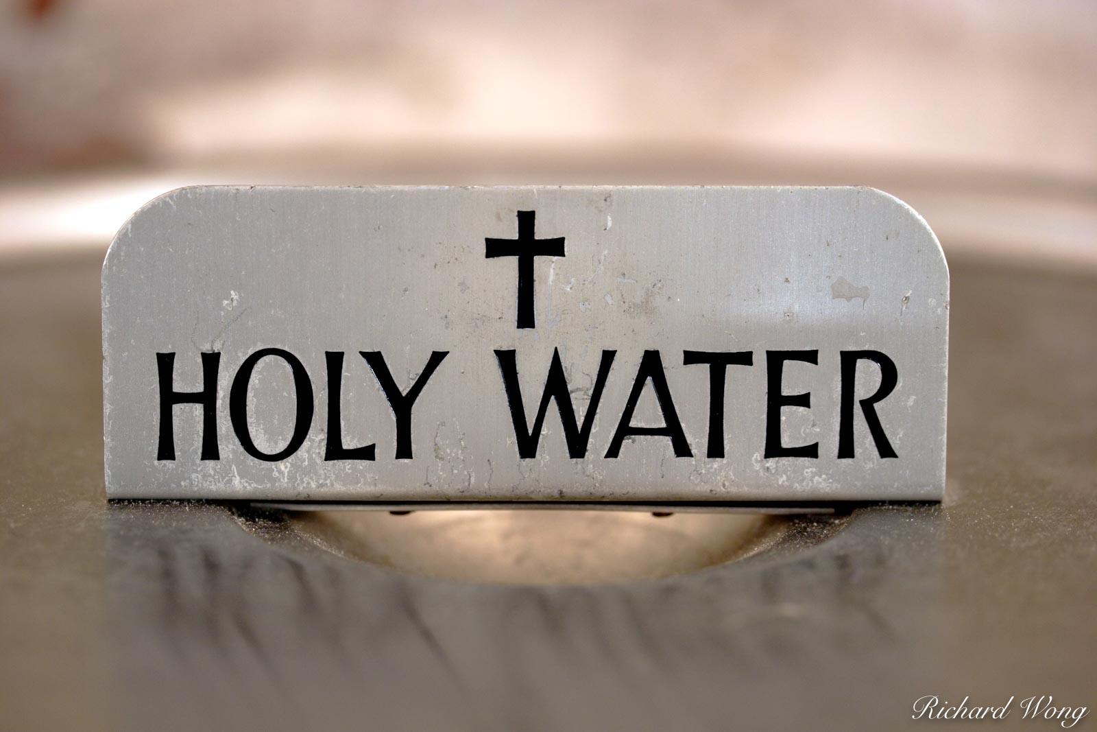Holy Water, Mission San Fernando Rey de Espana, California, photo, photo