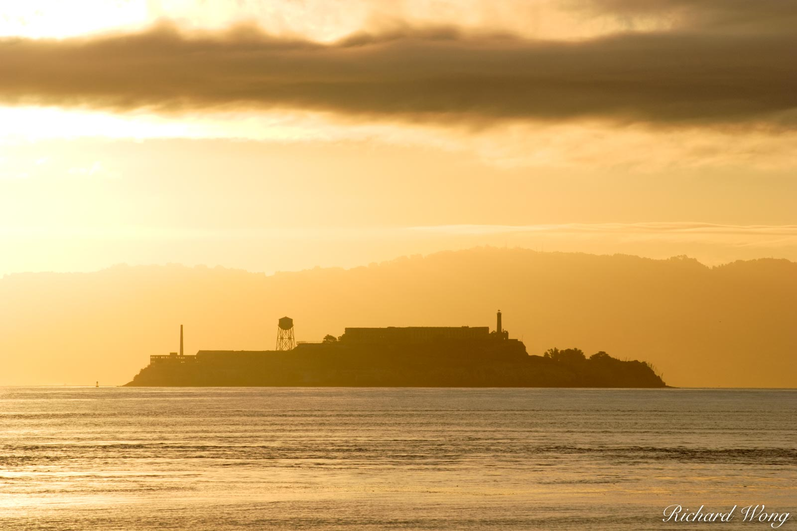Alcatraz Island Sunrise, San Francisco, California, photo, photo