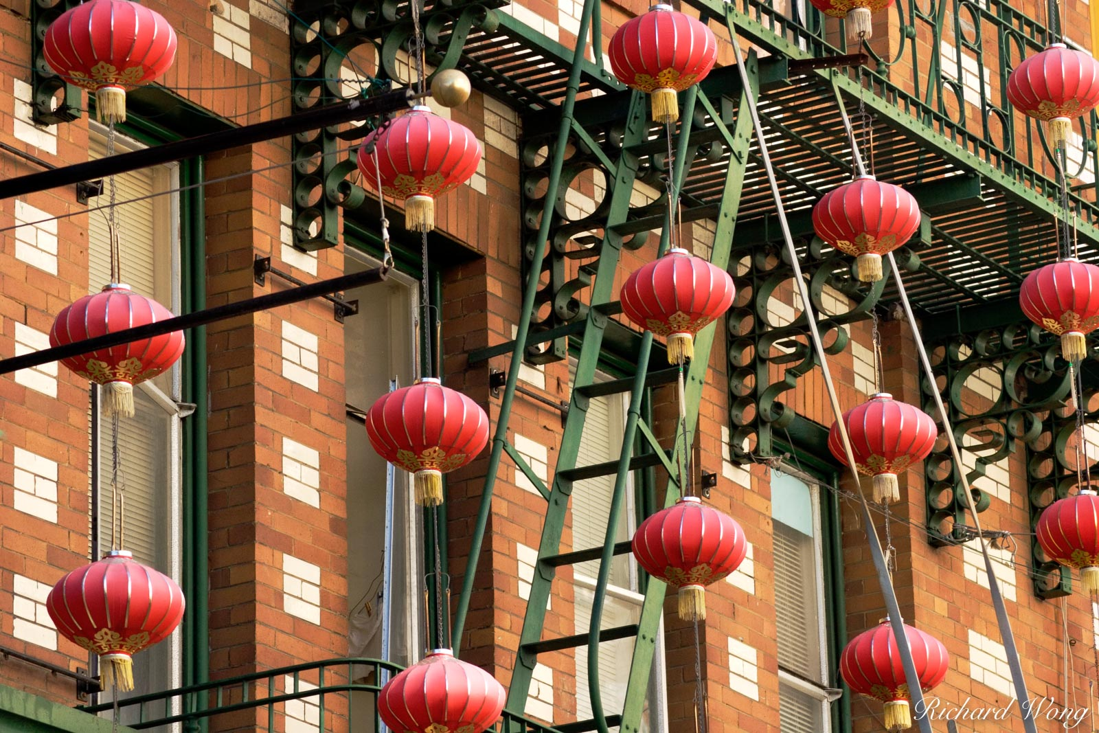 Chinese Lanterns in Chinatown, San Francisco, California, photo, photo
