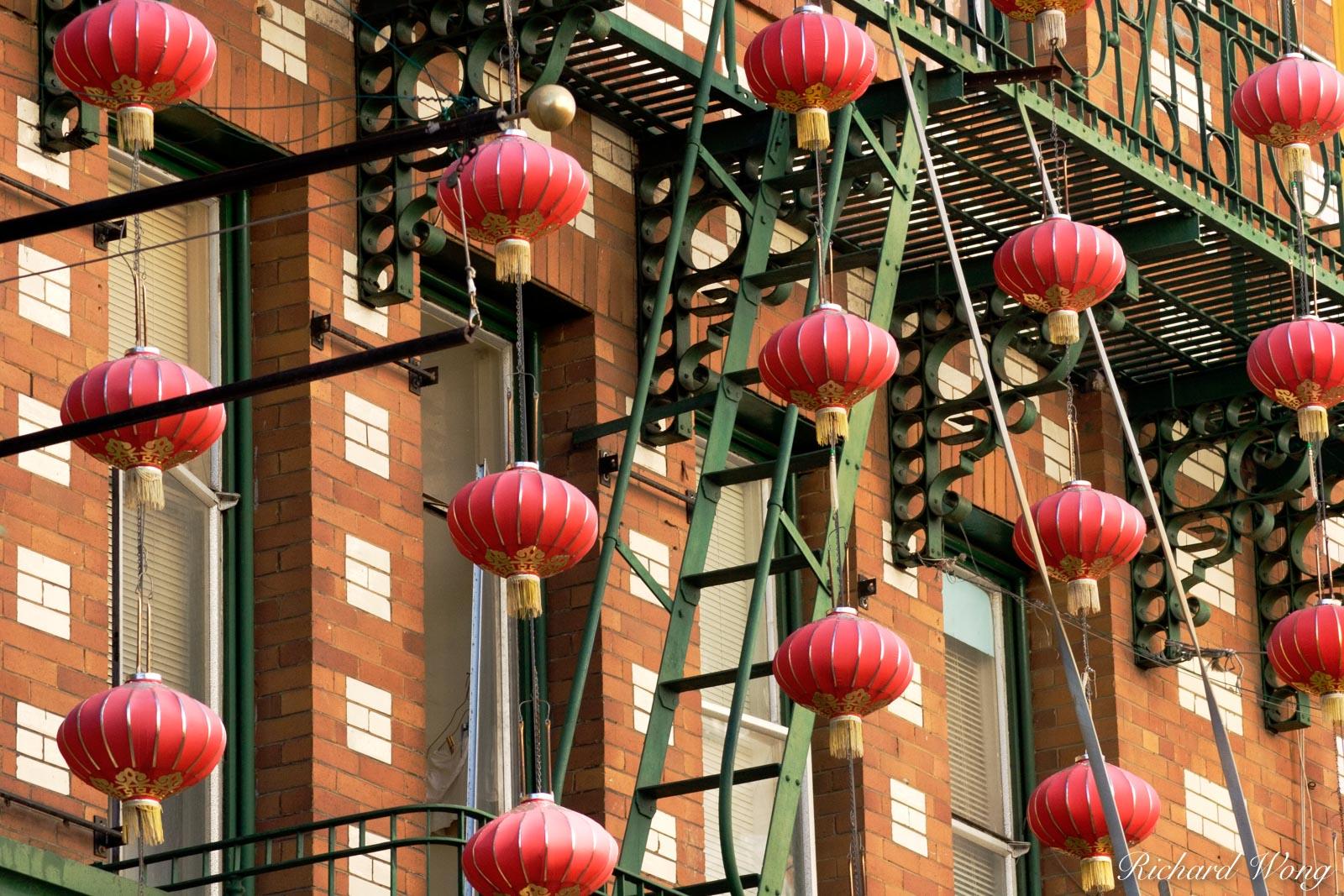 Chinese Lanterns in Chinatown, San Francisco, California, photo, northern california