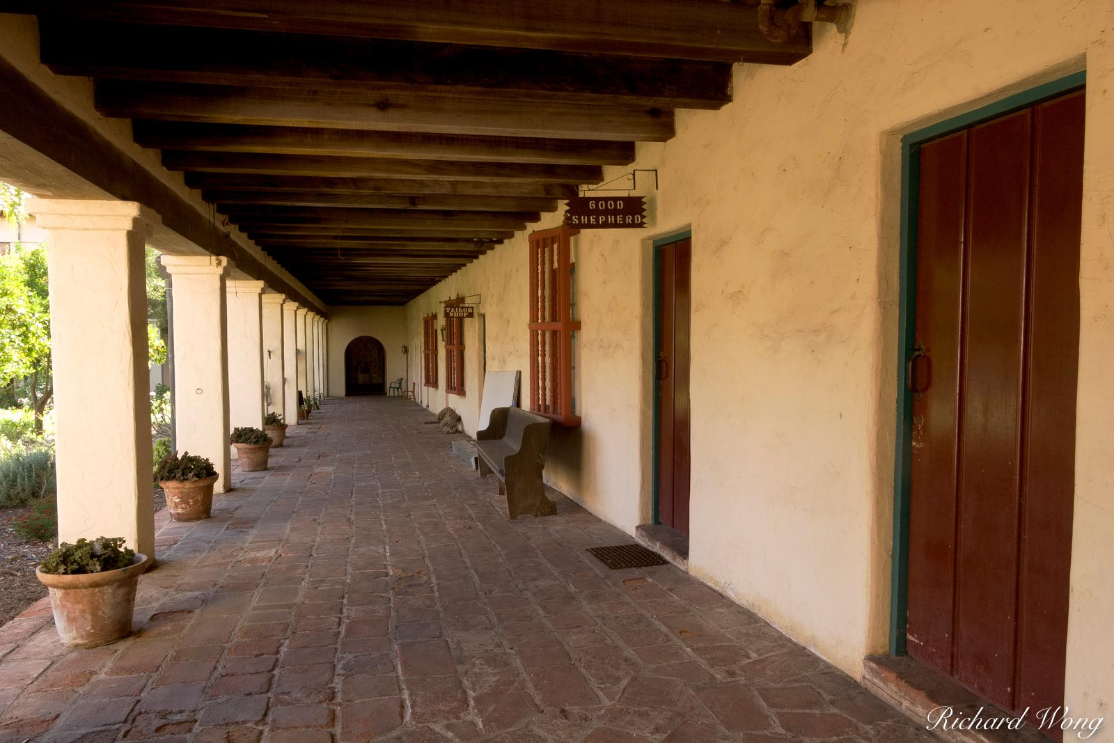 Mission Santa Barbara Hallway Corridor, California, photo, photo