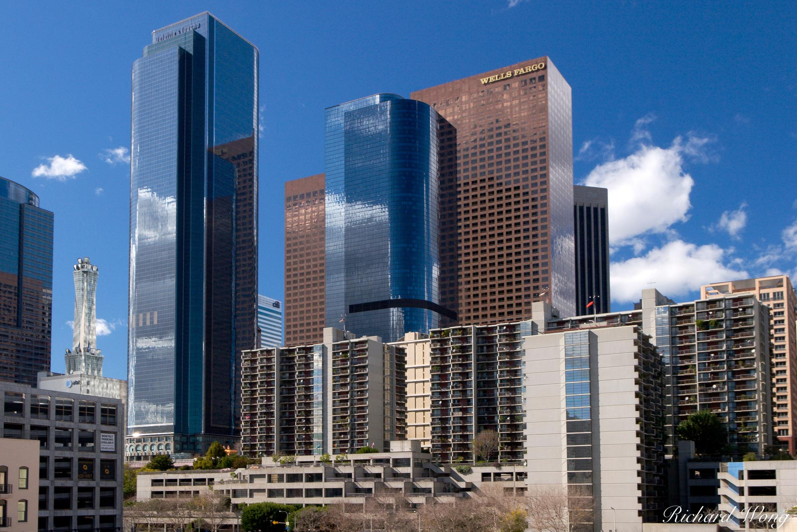 Downtown Los Angeles Skyrise Buildings, L.A., California, photo, photo