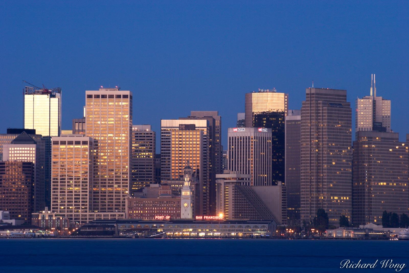 Downtown City Skyline, San Francisco, California, photo, photo