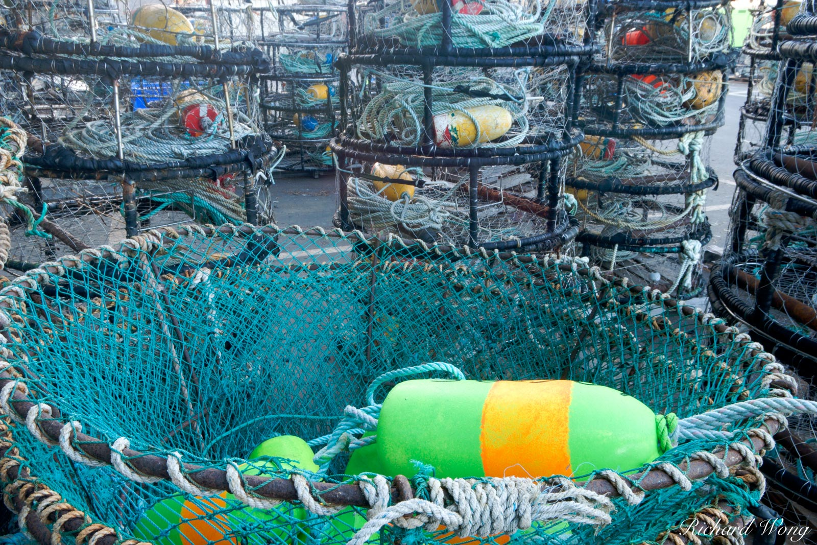 Crab Pots and Fishing Nets at Woodley Island Marina, Eureka, California, photo, photo