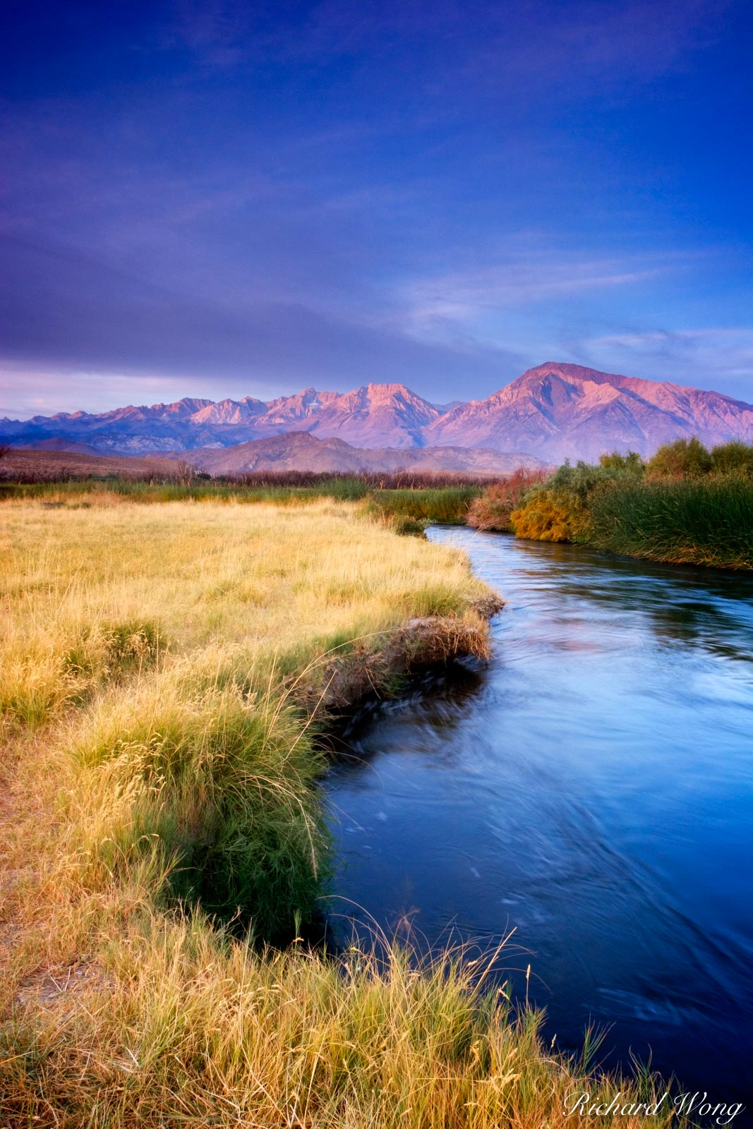 Owens River Sunrise, Owens Valley, California, photo, photo
