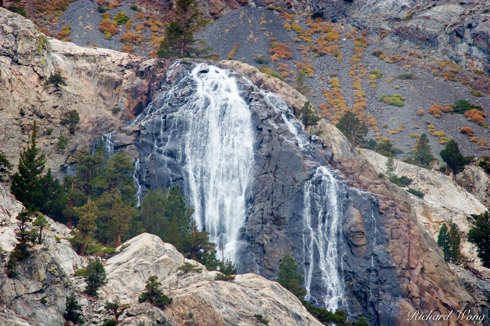 Horsetail Falls, June Lakes, California, photo, photo