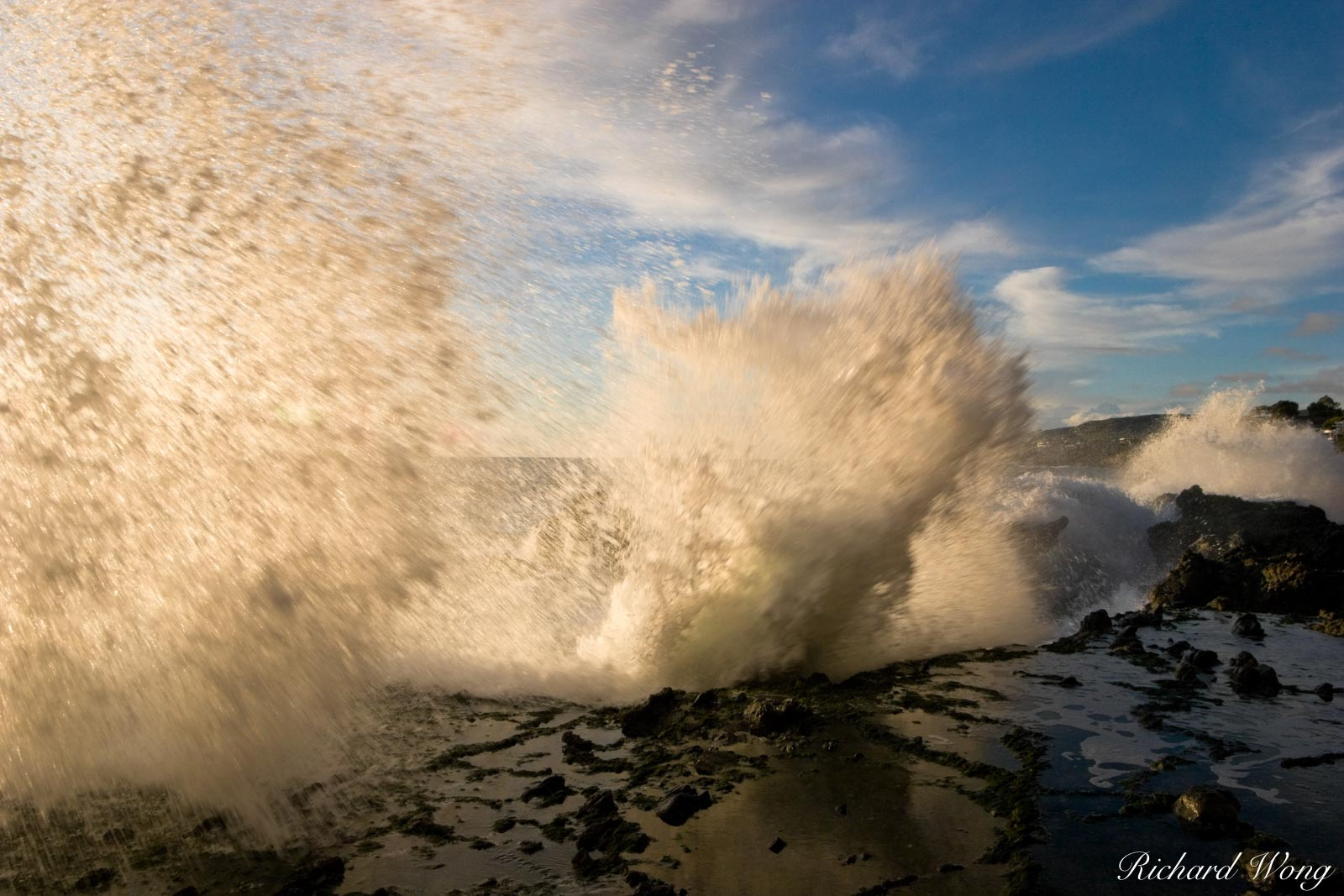 On Shore Wave Break at Victoria Beach, Laguna Beach, California, photo, photo