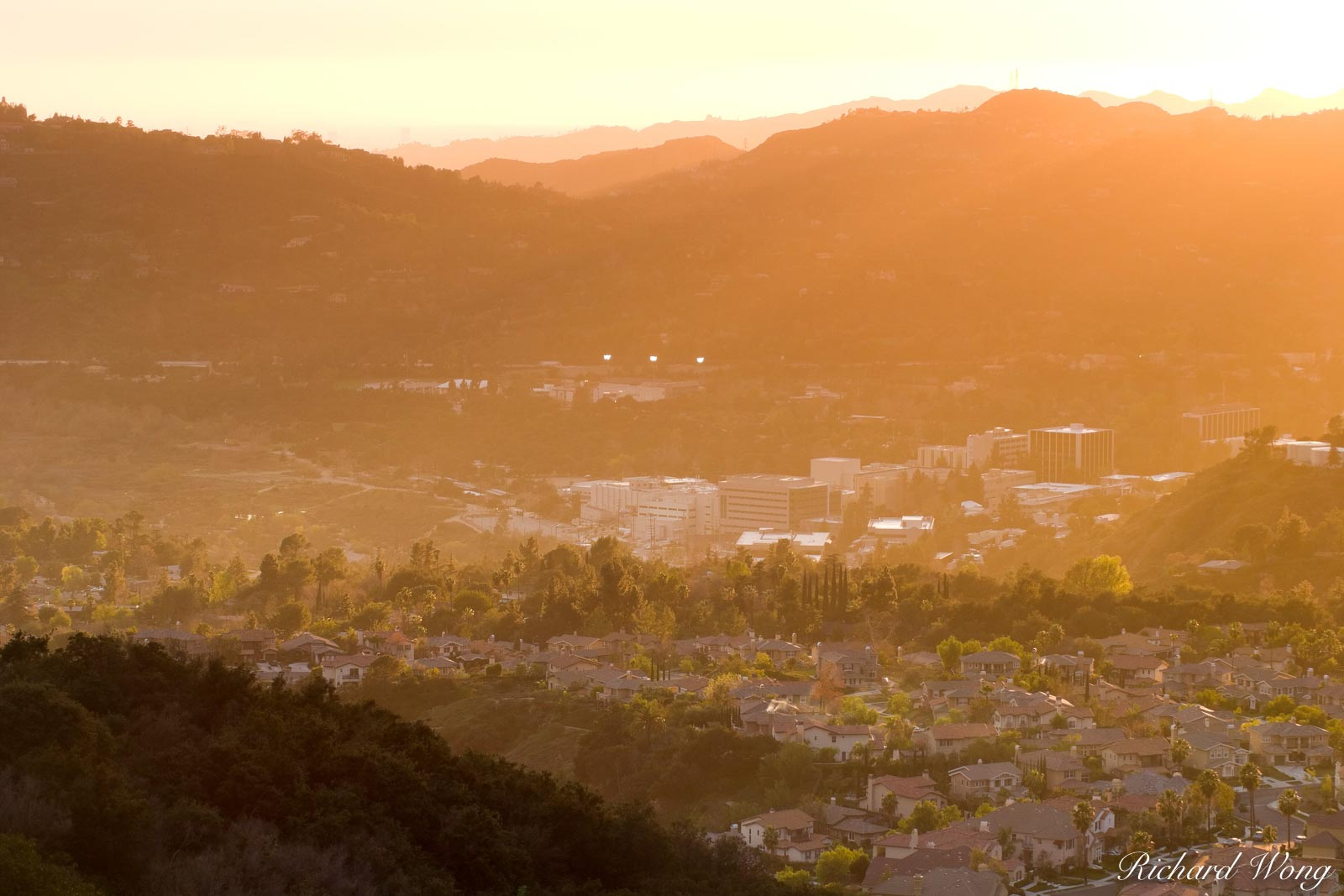 Jet Propulsion Laboratory (JPL) at Sunset, Pasadena, California, photo, photo