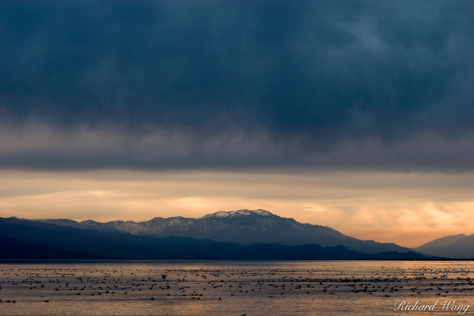 Stormy Sunset, Salton Sea, California, photo, photo