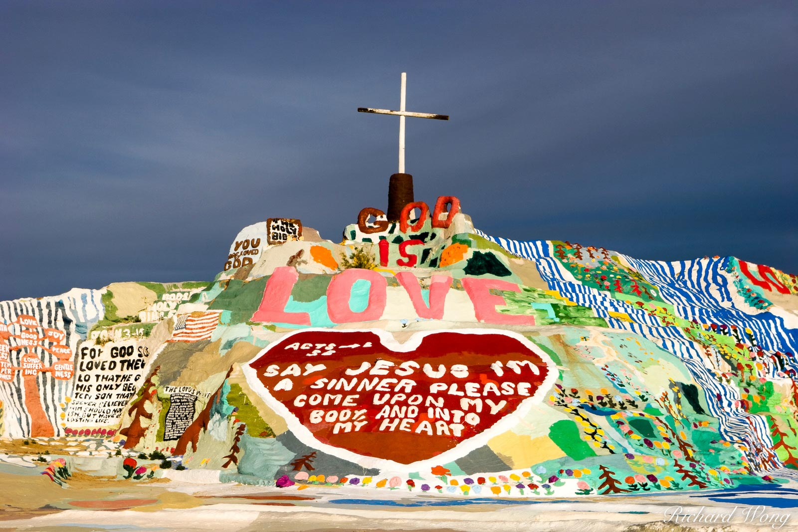 Salvation Mountain, Slab City, California, leonard knight, photo, photo