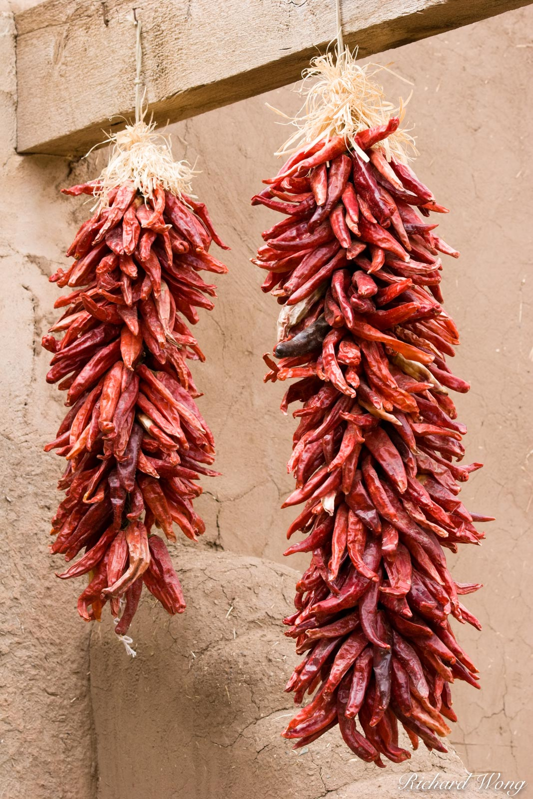 Hanging Red Chilis, Taos Pueblo, New Mexico, photo, photo