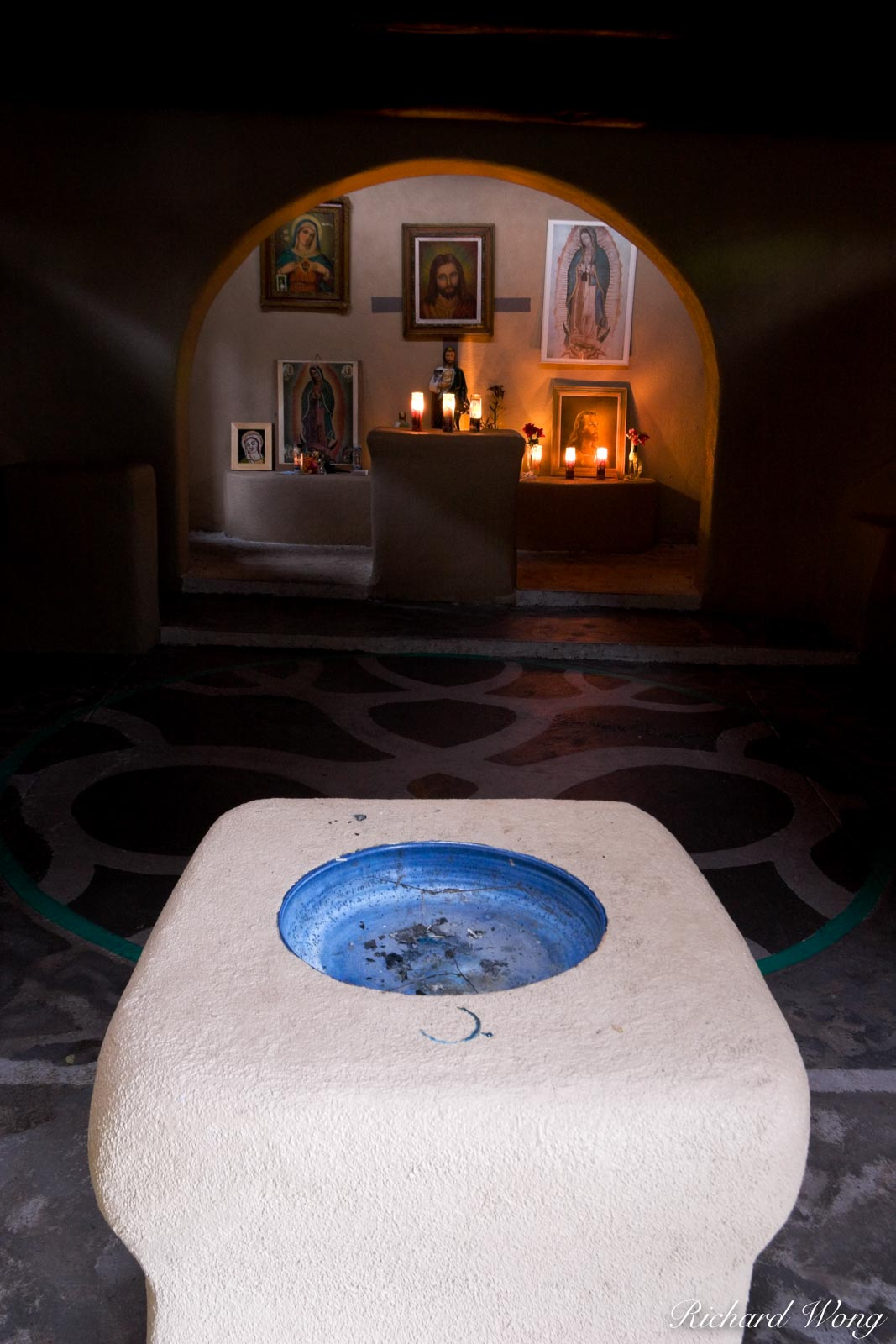Capilla de Nuestra Senora de Guadalupe (Our Lady of Guadalupe Chapel) Interior at Old Town Plaza, Albuquerque, New Mexico, photo, photo