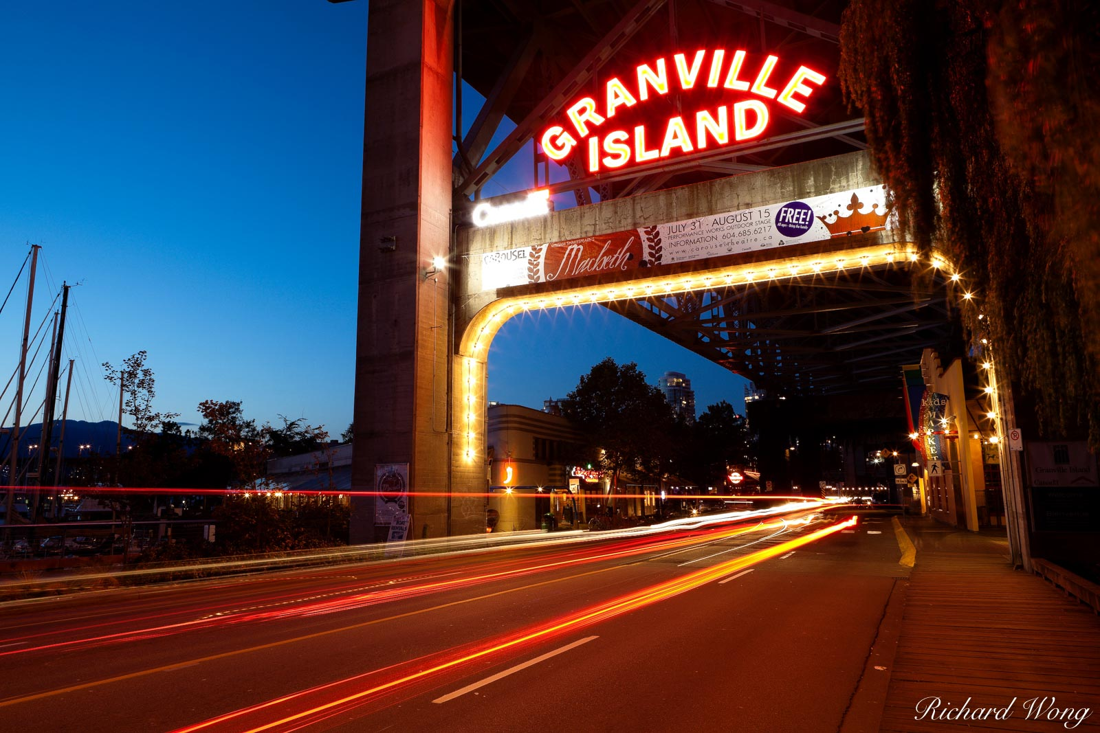 Granville Island at Night, Vancouver, Canada, photo, photo