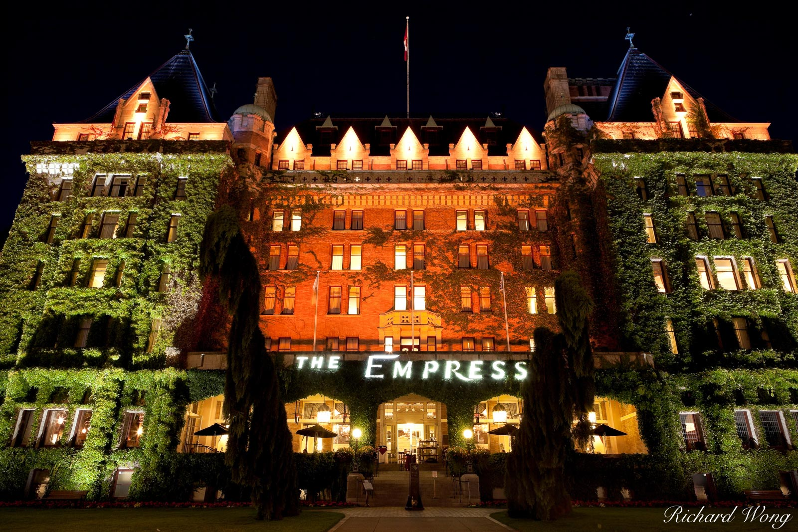 Empress Hotel at Night, Victoria, BC, photo, photo
