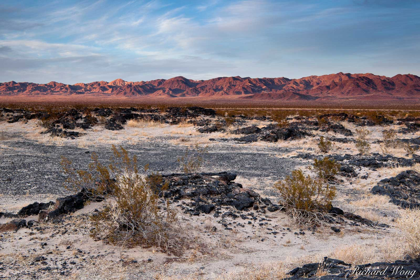 Lava Field in Mojave Desert, Amboy Crater National Natural Landmark, California, photo, photo