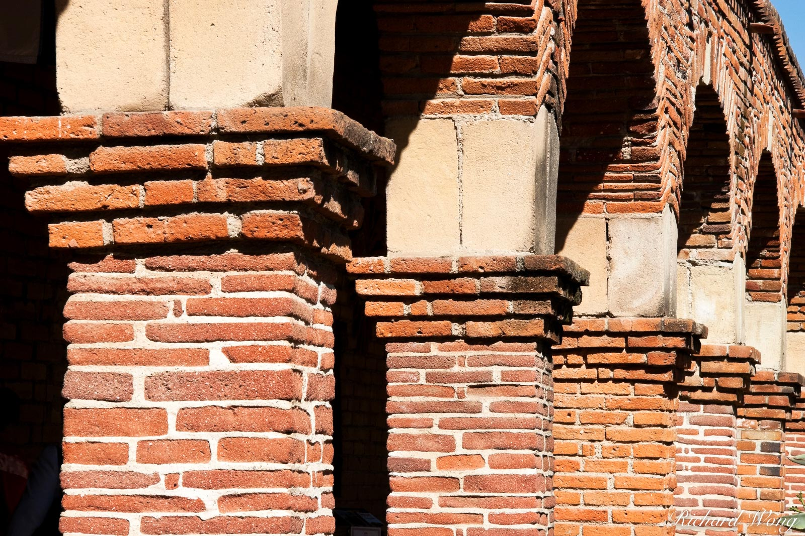 Mission Architecture Columns, Mission San Juan Capistrano, California, photo, photo