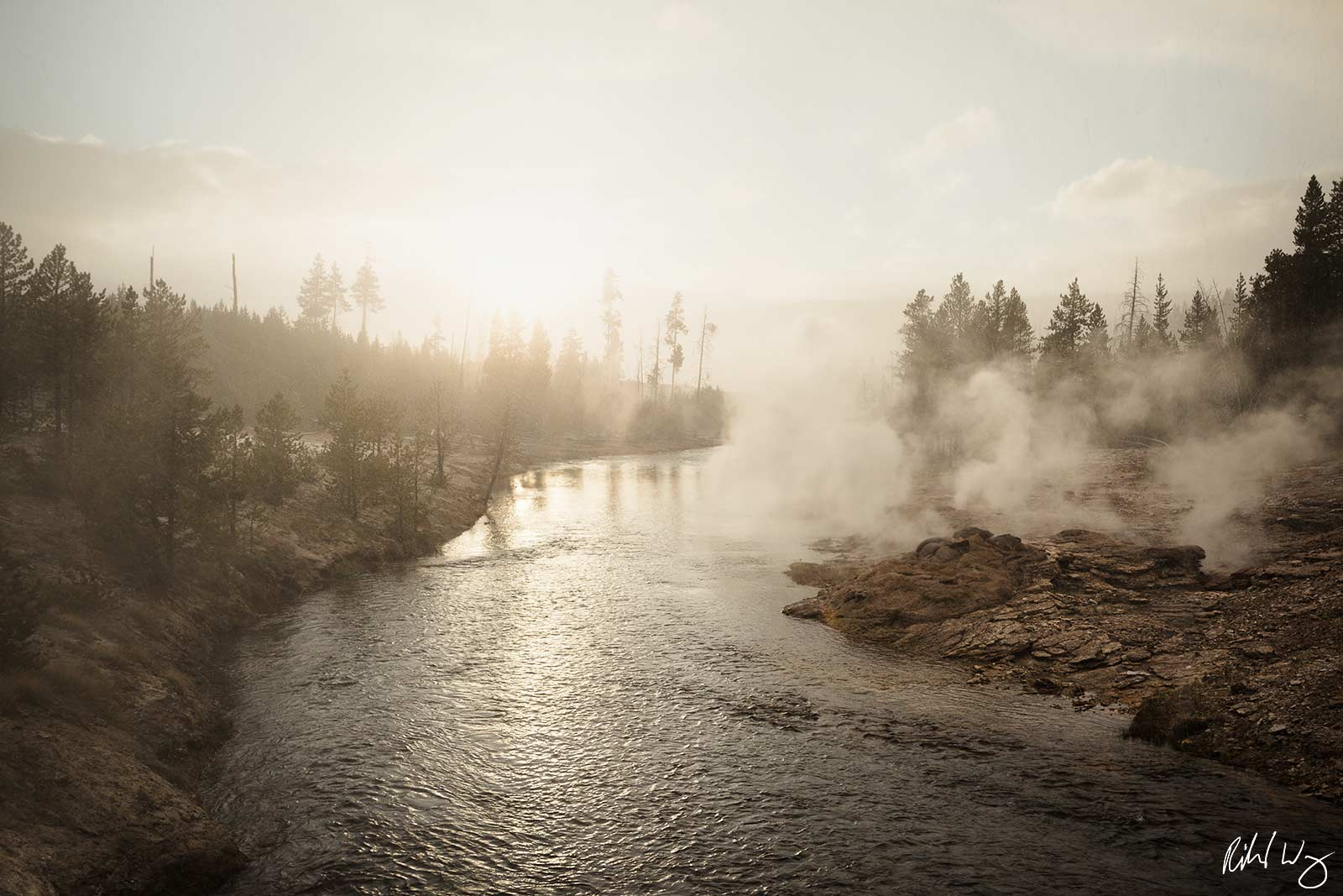 Snowing at Sunset Along Firehole River (Upper Geyser Basin), Yellowstone National Park, Wyoming What I enjoyed about visiting...