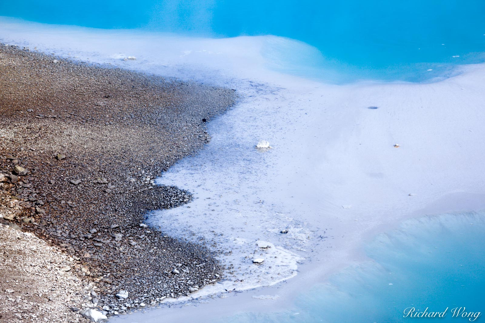 Colloidal Pool in Porcelain Basin at Norris Geyser Basin, Yellowstone National Park, Wyoming, photo, photo