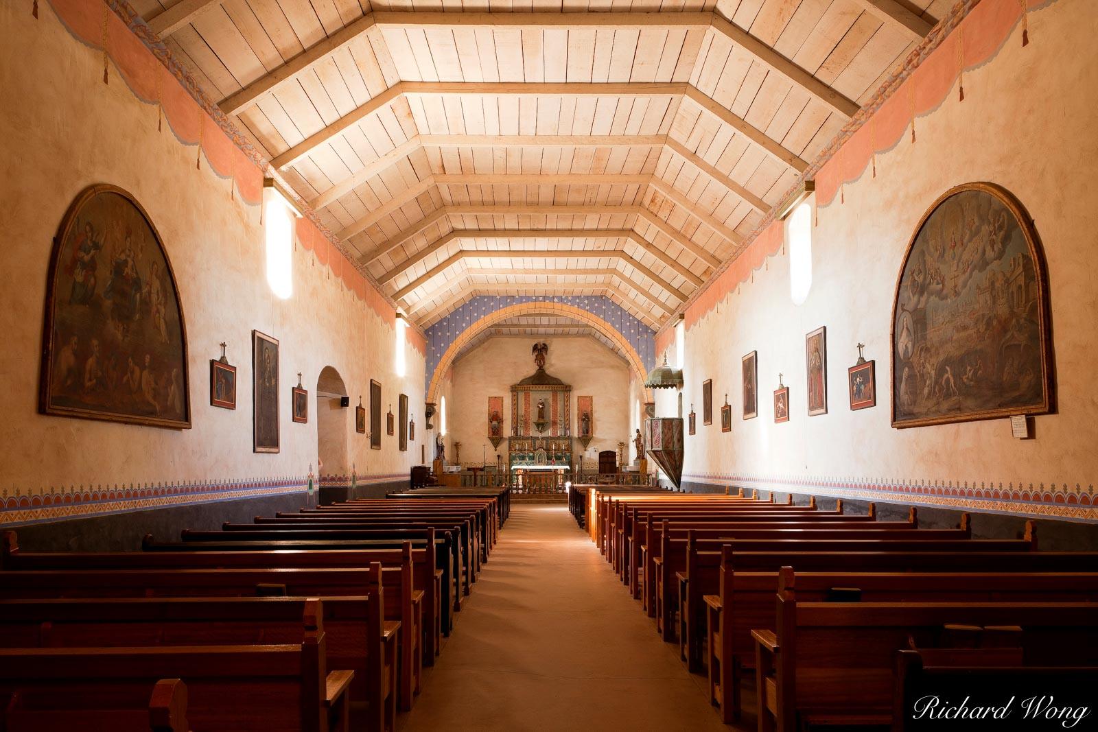 Mission San Antonio de Padua Chapel Interior, Monterey County, California, photo, photo