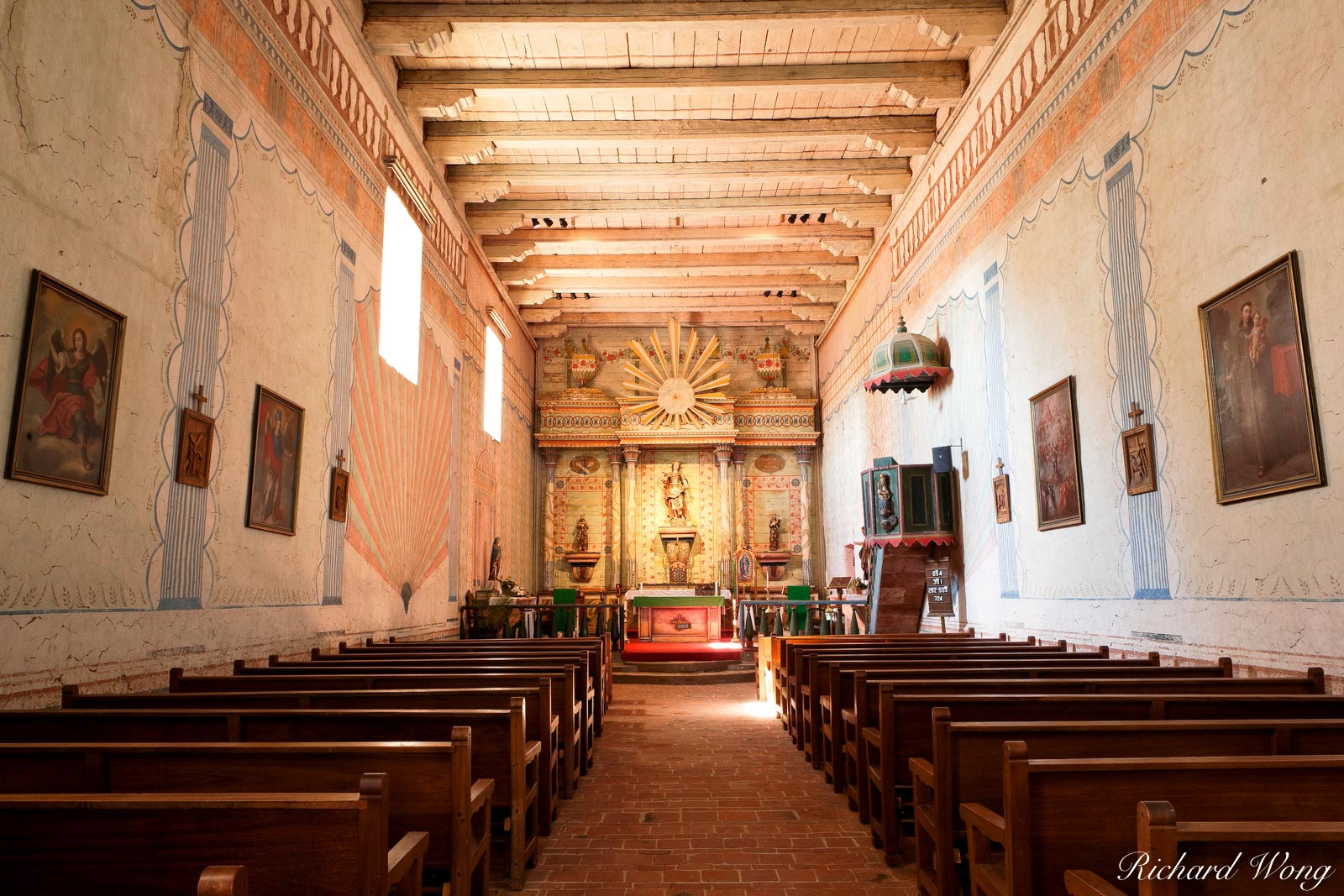 mission san miguel arcangel, chapel, california, photo, photo